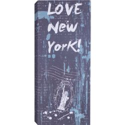 Art Maison Canada Love New York Graphic Art on Wrapped Canvas