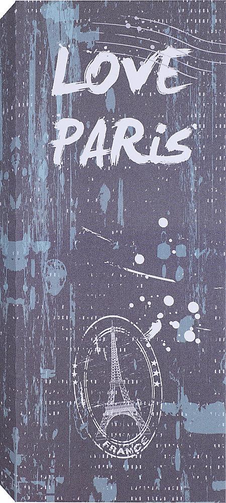 Love Paris Graphic Art on Wrapped Canvas