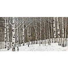 Huile d'arbre de bouleau ' peinture impression sur enveloppé de toile