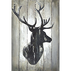 Deer Face Horns I' Wall Art on Wrapped Canvas