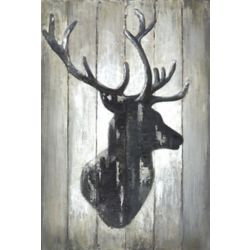 Art Maison Canada Deer Face Horns I' Wall Art on Wrapped Canvas