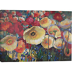 Art Maison Canada Floral Spots Painting Print on Wrapped Canvas