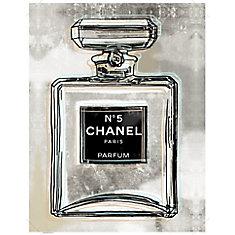 Chanel' Art graphique sur toile enveloppé