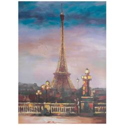 Art Maison Canada Eiffel View Painting Print on Wrapped Canvas
