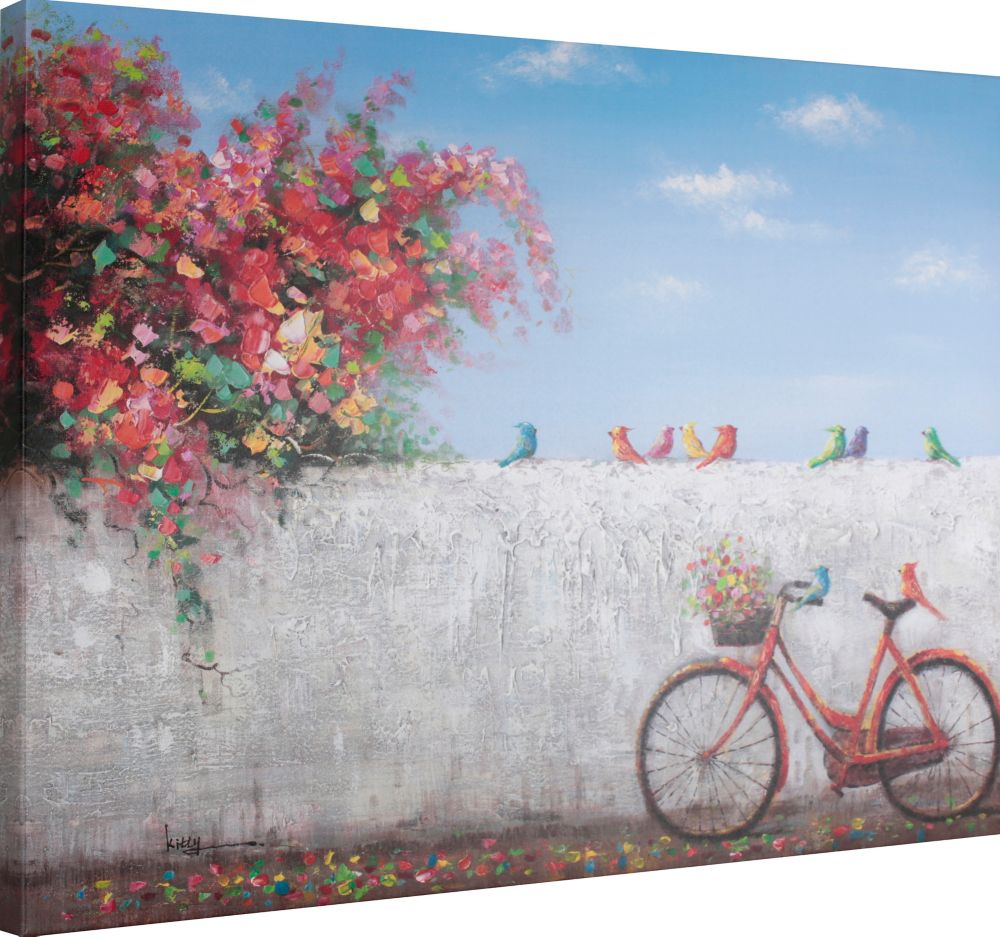 Art Maison Canada Red Cycle Painting Print on Wrapped Canvas