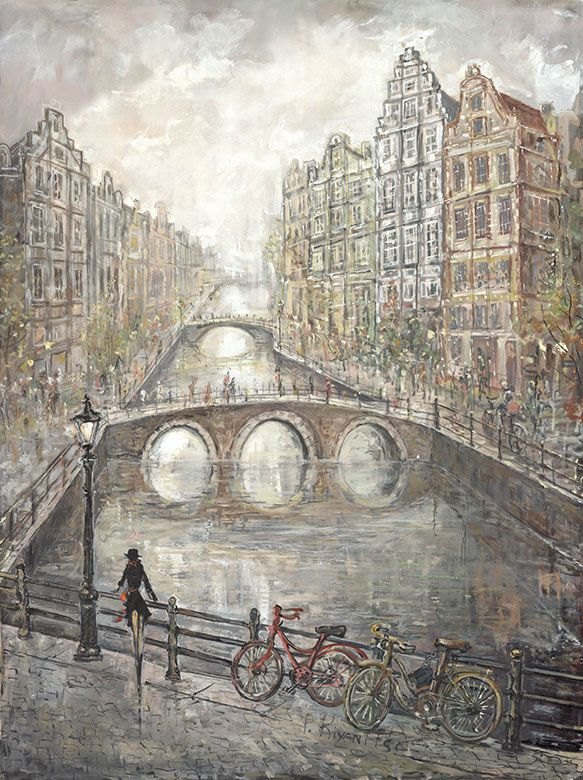 Art Maison Canada Amsterdam Lovers IV' Painting Print on Wrapped Canvas