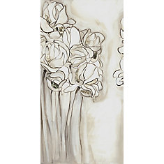 Flower Sketch I' Painting Print on Wrapped Canvas