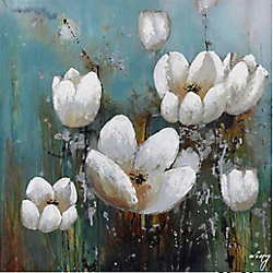 Art Maison Canada White Floral I Painting Print on Wrapped Canvas