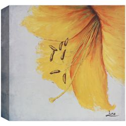 Art Maison Canada Yellow Floral I Painting Print on Wrapped Canvas