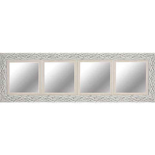 "Quadruple Opening 18"" x 60"" Mirror - White Bark"