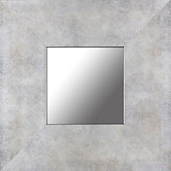 Mirrorize Canada Distressed Pearl Frame Accent Mirror 12.5X12.5 (Inner mirror 6X6), (Set of 4)