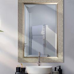 Mirrorize Canada Miroir biseauté argent designer 27 X 43 (miroir d'intérieur 20 X 36)