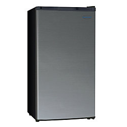Marathon Black Steel 3.2 cu. Feet High Efficiency Compact Refrigerator - ENERGY STAR®