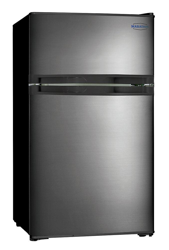 Black Steel 3.1 cu. Feet Refrigerator with Freezer Compartment - ENERGY STAR®