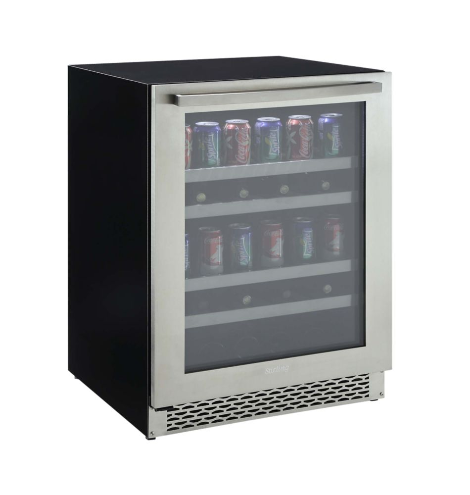 Wine fridge and beverage fridge the home depot canada for Modern homes 8 bottle wine cooler