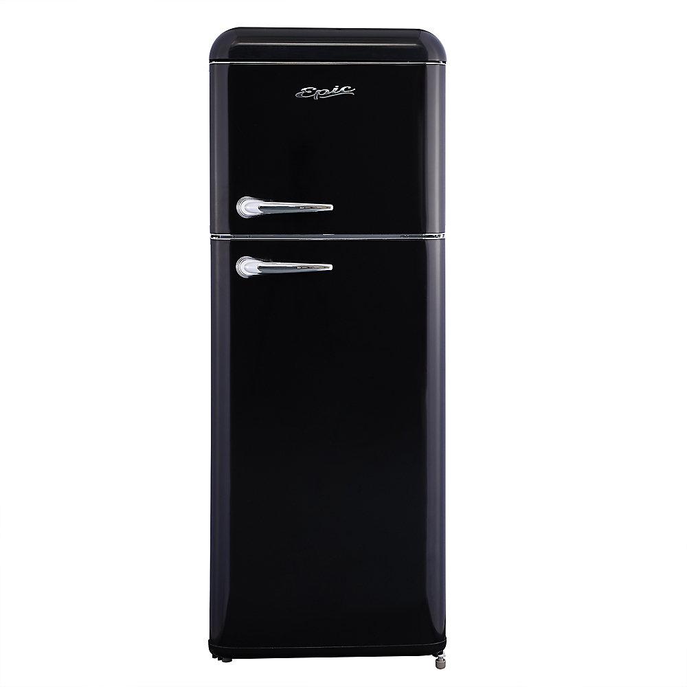 8 cu. ft. Retro Refrigerator in Black