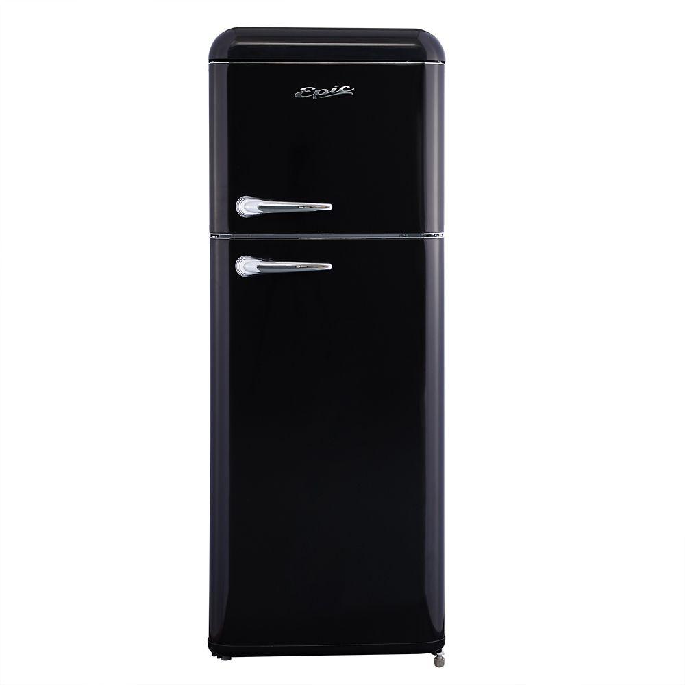 Epic 8 cu. ft. Retro Refrigerator in Black