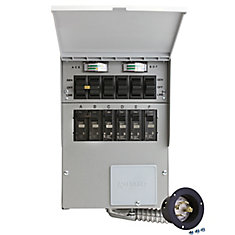 30 Amp 7500-Watt 6-Circuit indoor Transfer Switch Kit