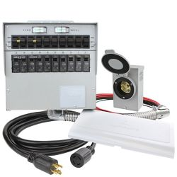 Reliance Controls 30 Amp 7500W 10-Circuit Indoor Transfer Switch Kit
