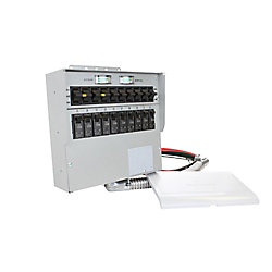 Reliance Controls 510C 50 amp 12,500W 10-Circuit Indoor Transfer Switch & Meters