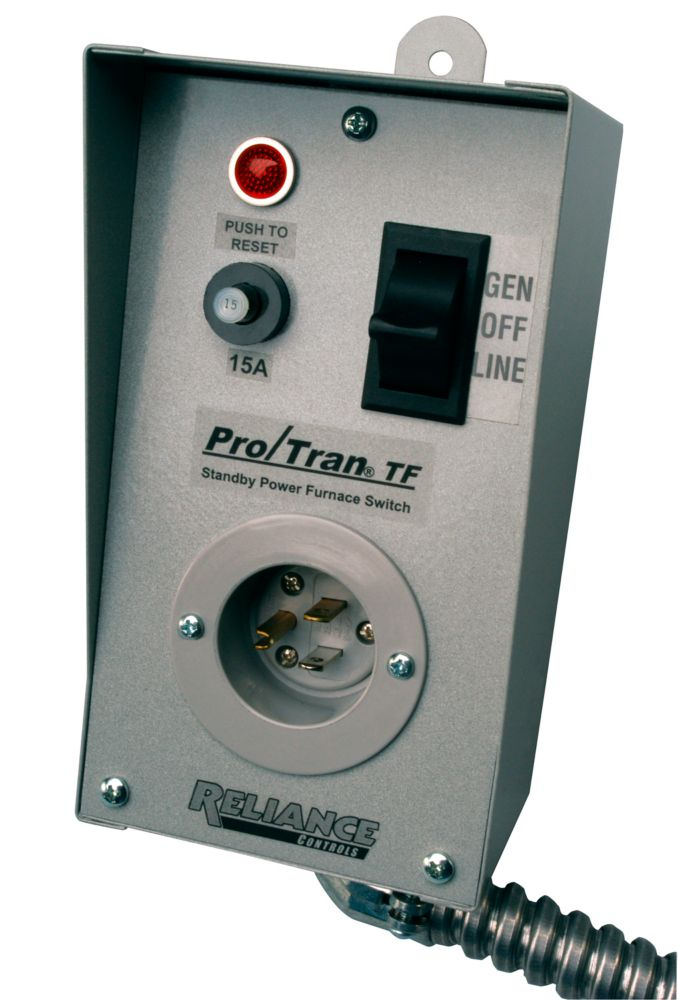 TF151W Transfer Switch for powering (1) 15 Amp circuit with a generator