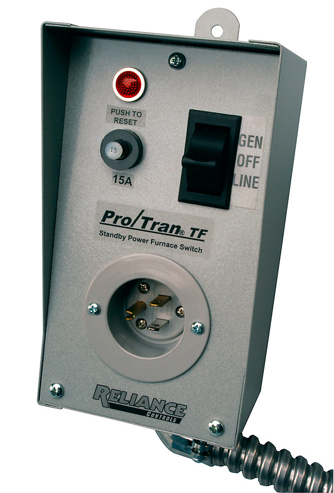 reliance controls tf151w transfer switch for 15 amp circuit with a generator