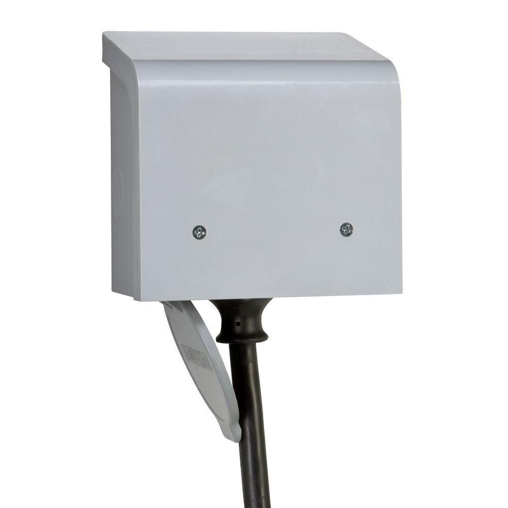 PBN50 50-Amp CS6375 Outdoor Non-Metallic Power Inlet Box