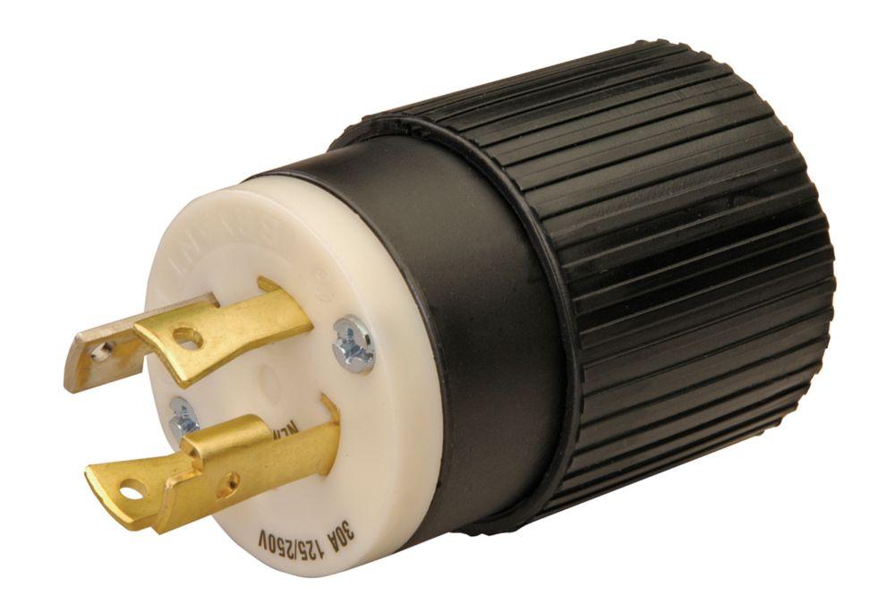 L14-30 Twist Lock 30-Amp 125/250-Volt Generator Cord Plug
