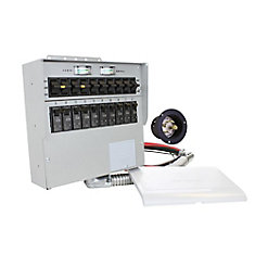 310A 30-Amp 10-Circuit Manual Transfer Switch/Meters, Power Inlet