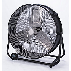 24 Inch Commercial High Velocity Drum Fan