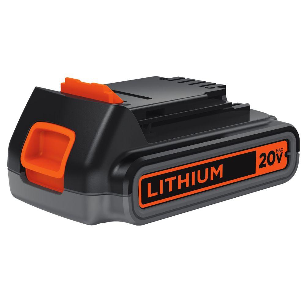 Black & Decker 20V Max 2.0 Ah Li-Ion Battery Pack