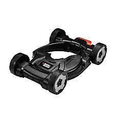 BLACK+DECKER Plateau de coupe amovible à roues pour tondeuse à gazon 3-en-1 à ligne droite électrique de 12 po à arbre droit 3-en-1, coupe-bordures, coupe-bordures, tondeuse à poussée.