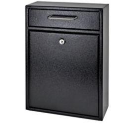 Mail Boss Locking Security Drop Box in Black