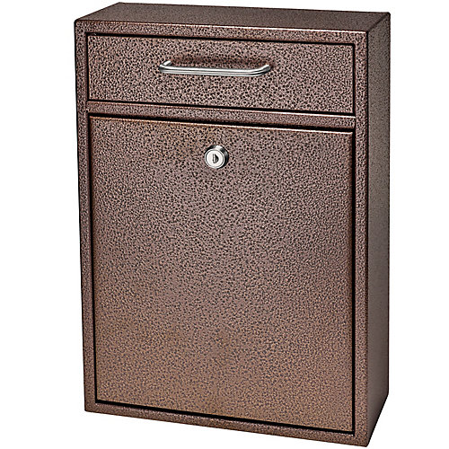 Locking Security Drop Box, Bronze