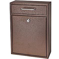 Locking Security Drop Box, Bronze