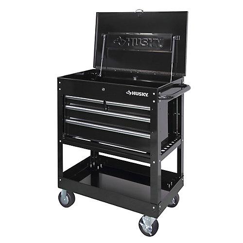 33-inch 4-Drawer Mechanics Tool Utility Cart in Black