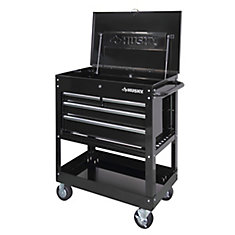 33-inch 4-Drawer Mechanics Tool Utility Cart in Black