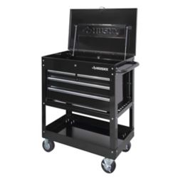 HUSKY 33-inch 4-Drawer Mechanics Tool Utility Cart in Black