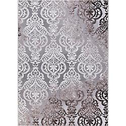 Merinos Damask Grey 7 ft. 10.5-inch x 9 ft. 11.5-inch Contemporary Rectangular Area Rug