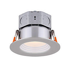 3 inch LED Brushed Nickel Stepped Baffle Recessed Round Downlight - ENERGY STAR®