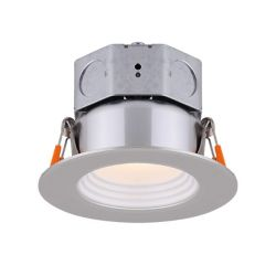 Canarm 3 inch LED Brushed Nickel Stepped Baffle Recessed Round Downlight - ENERGY STAR®