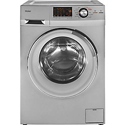 Haier 2.0 cu. ft. Front Load Washer and Dryer in Stainless Steel