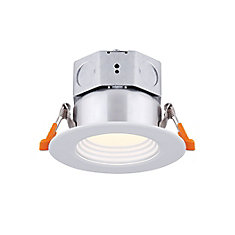 3 inch LED White Stepped Baffle Recessed Round Downlight - ENERGY STAR®