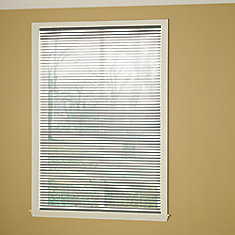 Cordless 1 3/8-inch Room Darkening Vinyl Cut Blinds Grey 18-inch x 72-inch (Actual width 17.625-in)