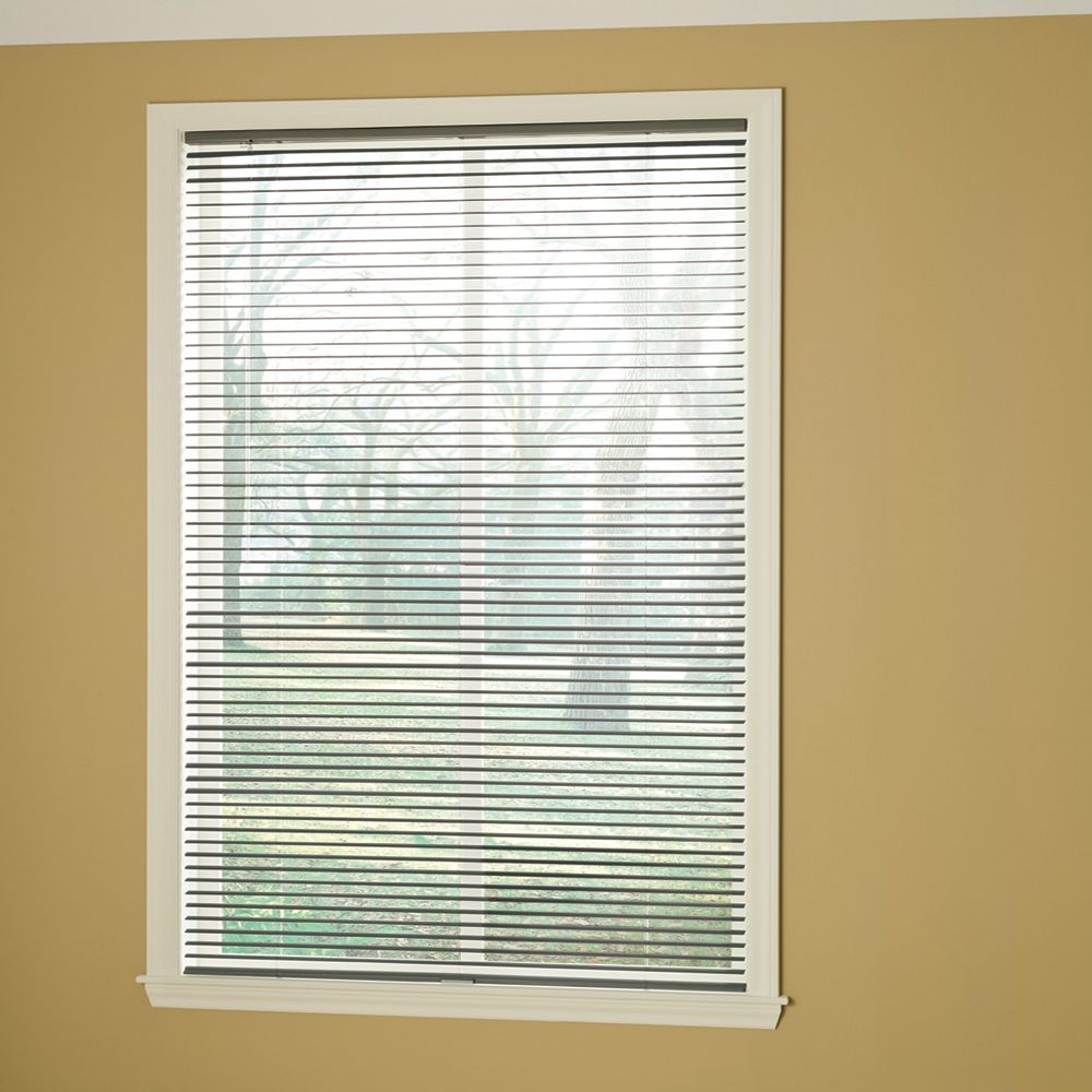 Hampton Bay Cordless 1 3/8-inch Room Darkening Vinyl Cut Blinds Grey 18-inch x 72-inch (Actual width 17.625-in)