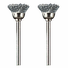 1/2 inch Carbon Steel Brushes (2-Pack)