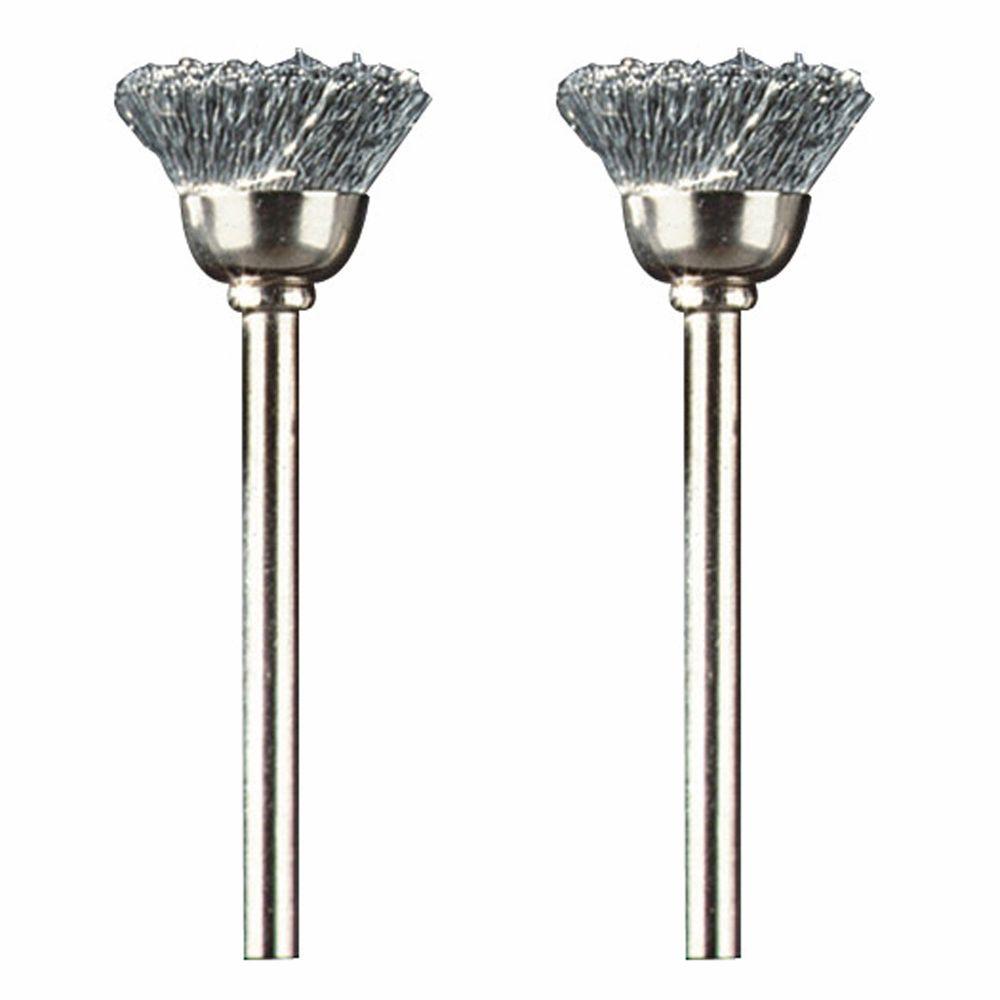 Dremel 1/2 inch Carbon Steel Brushes (2 Pack)