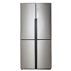 Haier 32.8-inch W 16.4 cu. ft. Bottom Freezer Refrigerator in Stainless Steel, Counter Depth