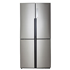 32.8-inch W 16.4 cu. ft. Bottom Freezer Refrigerator in Stainless Steel, Counter Depth, ENERGY STAR