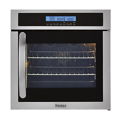 24-inch W Single Electric Right-Swing Door Wall Oven with Convection in Stainless Steel